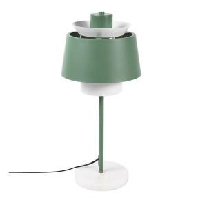 Veioza alba/verde din marmura si fier 55 cm Mira Zago