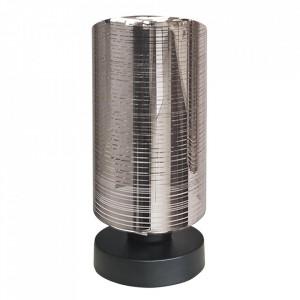 Veioza argintie din otel si sticla 25 cm Cox Candellux