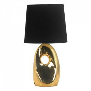 Veioza aurie/neagra din PVC si ceramica 43 cm Hierro Candellux