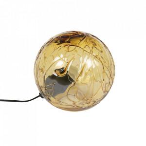 Veioza maro din sticla si fier 24 cm Lune Dutchbone