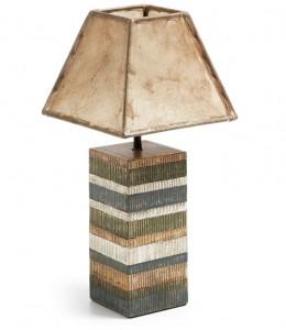 Veioza multicolora din lemn 45 cm Albero Kave Home
