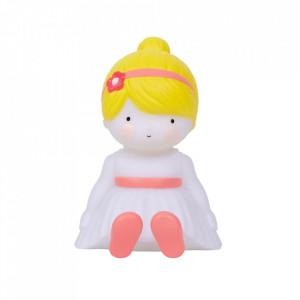 Veioza multicolora din PVC cu LED 13 cm Fairy A Little Lovely Company