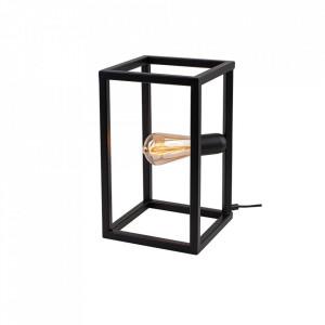 Veioza neagra din metal 33 cm Cube Lamp Aldex