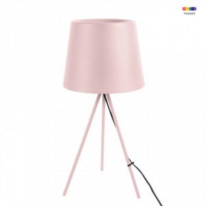 Veioza roz din metal 57 cm Classy Present Time