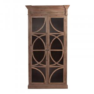 Vitrina maro/transparenta din lemn si sticla 230 cm Vichy Vical Home