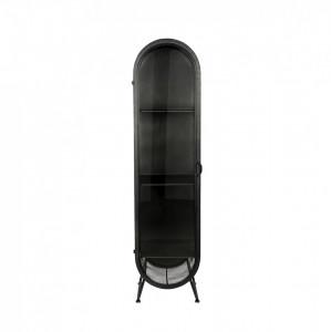 Vitrina neagra din metal 181 cm Oval Dutchbone