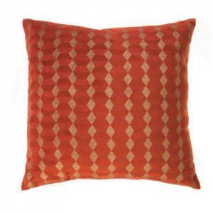 Perna decorativa patrata portocalie din bumbac 45x45 cm Noa Zago