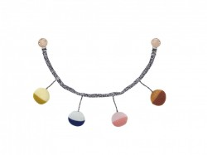 Decoratiune multicolora suspendabila pentru copii din bumbac Ball Pram Chain Ferm Living