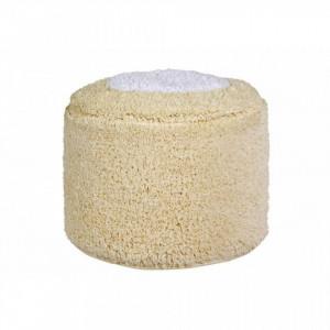 Puf rotund crem vanilie din bumbac pentru copii 27 cm Marshmallow Vanilla Lorena Canals