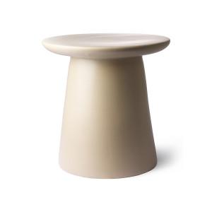 Masuta crem din ceramica 40 cm Lovely HK Living