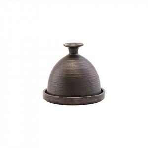 Untiera cu capac maro din ceramica 11 cm Forrest Nicolas Vahe