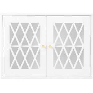 Vitrina alba din MDF pentru perete 70 cm Harlequin White Cam Cam