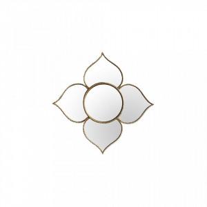 Oglinda rotunda aurie din polirasina 11 cm Louis Golden Objet Paris