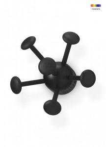 Cuier negru din lemn de frasin pentru copii Wall Bug Nofred