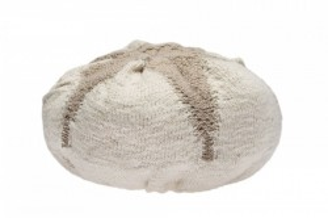 Perna rotunda bej din bumbac pentru podea 25 cm Boll Soft Linen Lorena Canals