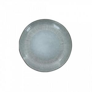 Farfurie gri din ceramica pentru desert 22 cm Enzo Grey LifeStyle Home Collection