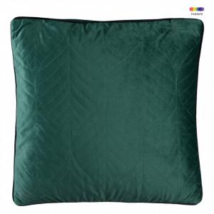Perna decorativa patrata verde din catifea 45x45 cm Crystal Green Zago