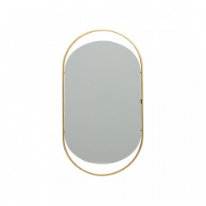 Oglinda ovala maro alama din fier 27x50 cm Sanou Woood
