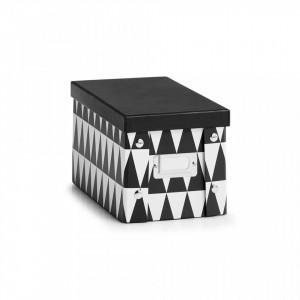Cutie cu capac neagra/alba din carton Triangle One Zeller
