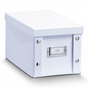 Cutie alba cu capac din carton CD Box White Zeller