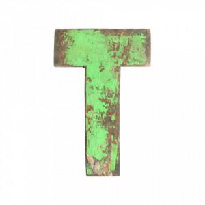 Decoratiune verde din lemn 18 cm T Raw Materials