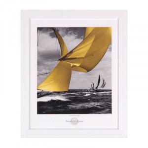 Tablou multicolor din MDF si polistiren 25x30 cm Sail Somcasa