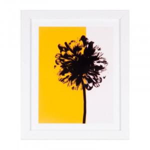Tablou alb/galbena din MDF si polistiren 25x30 cm Yellow Tree Somcasa