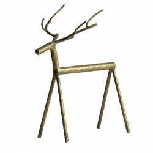 Decoratiune aurie din fier 25 cm Deer XL Be Pure Home