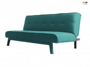 Canapea extensibila turcoaz din poliester si lemn pentru 2 persoane Modes Sea Breeze Custom Form