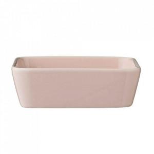 Vas roz din ceramica 13,5x13,5 cm Alberte Bloomingville