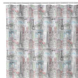 Perdea dus multicolora din poliester 180x200 cm Paris Unimasa