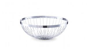 Fructiera argintie din metal 26,5 cm Fruit Basket Round Zeller