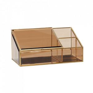 Cutie din alama si sticla pentru bijuterii Dixon Hubsch