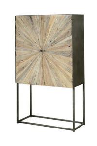 Dulap maro din lemn reciclat si metal 160 cm Chakra Giner y Colomer