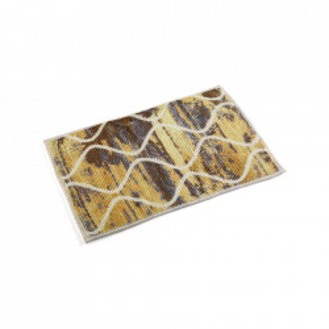 Covoras dreptunghiular multicolor din poliester 40x60 cm pentru baie Anti Slipper Mat Yellow Versa Home