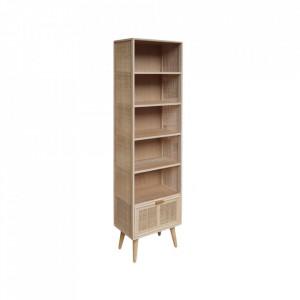 Biblioteca maro din MDF si ratan 179,5 cm Roro Shelf Opjet Paris