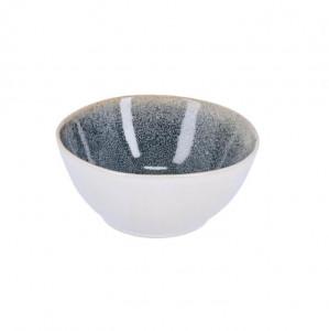 Bol alb/albastru inchis din ceramica 17 cm Sachi La Forma
