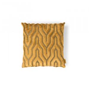 Perna decorativa patrata galbena din textil 45x45 cm I Feel So Soft Bold Monkey