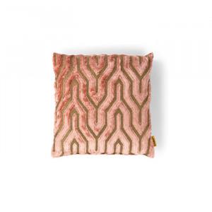 Perna decorativa patrata roz din textil 45x45 cm I Feel So Soft Bold Monkey