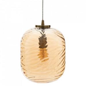 Lustra maro din sticla si metal Champan Oval Ixia
