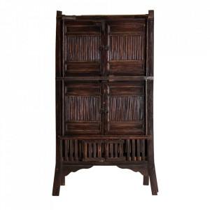 Dulap maro din lemn 187 cm Nirsa Vical Home