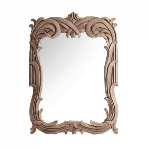 Oglinda dreptunghiulara maro din lemn 90x120 cm Damina Vical Home