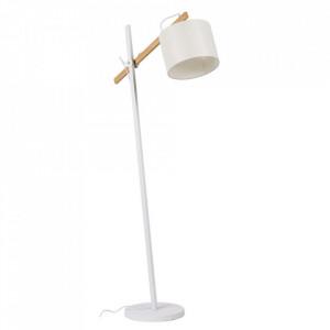 Lampadar alb din lemn si metal 175 cm Sellent Somcasa