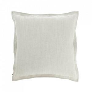 Fata de perna alba din textil 60x60 cm Maelina La Forma