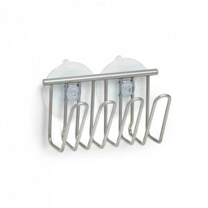 Suport burete argintiu din metal si PVC pentru perete Sponge Bob Zeller