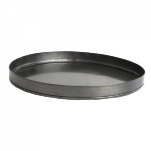Tava rotunda argintiu din fier 33 cm Industrial Raw Materials