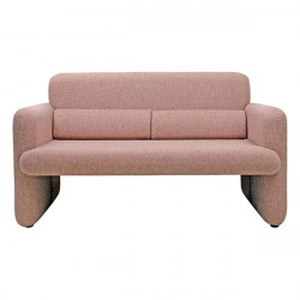 Canapea roz din poliester si lemn 140 cm Studio Sofa Coral HK Living