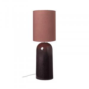 Veioza din ceramica si bumbac 83 cm Asla Rouge Cozy Living Copenhagen