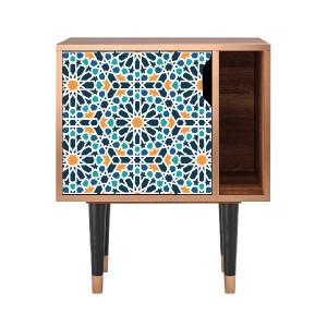 Noptiera multicolora din MDF si lemn Kaleidoscope Furny