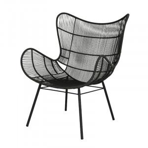 Scaun lounge gri din aluminiu si rasina pentru exterior Palm Royal Lifestyle Home Collection